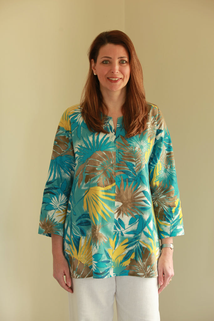 Nepal Top in Palm print