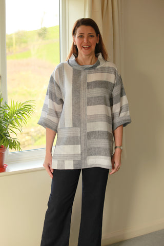 India Linen two way striped Top in 2 colours