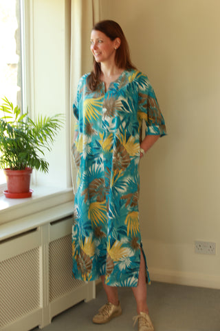 Sale Palm Leaf Summer Kaftan