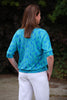 Capri Top in Aqua/blue