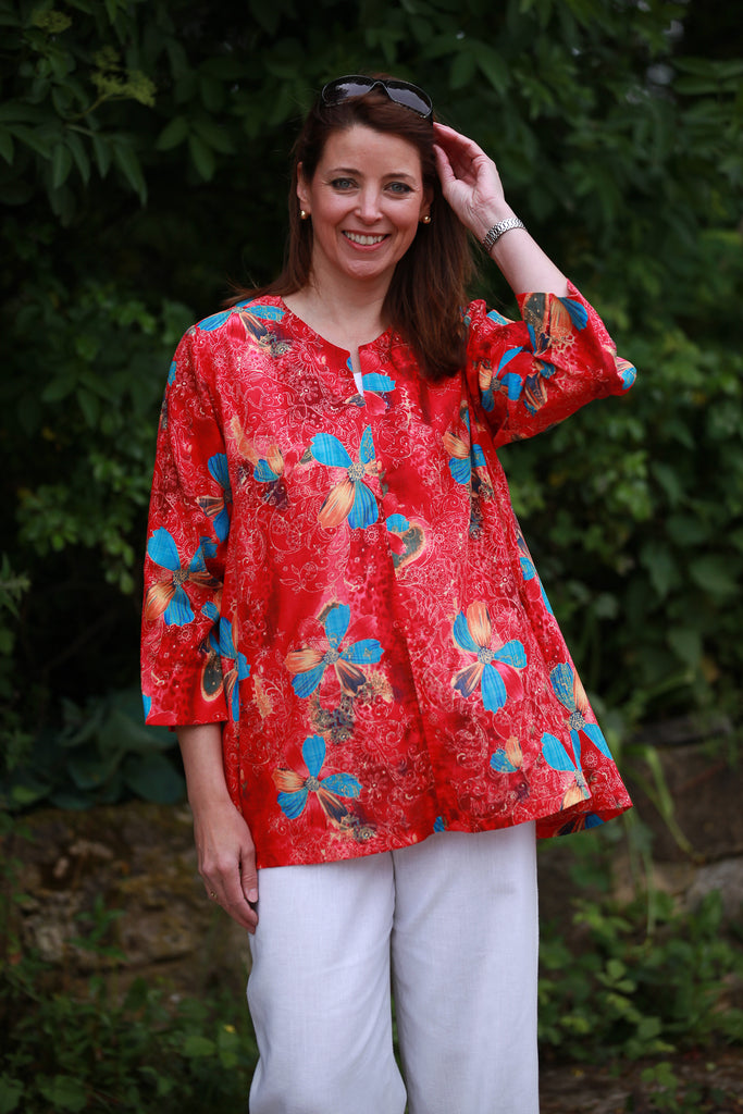 Nepal Top in Red print