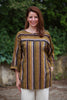 India striped Top in Khaki stripe Size 1 only