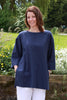 India Top in Navy and  Pool Blue