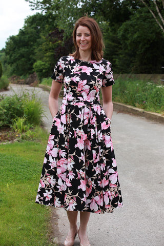 Magnolia Dress - Black background
