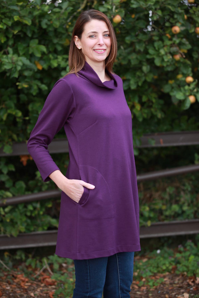 Weekender Short Jersey Dress in Grape