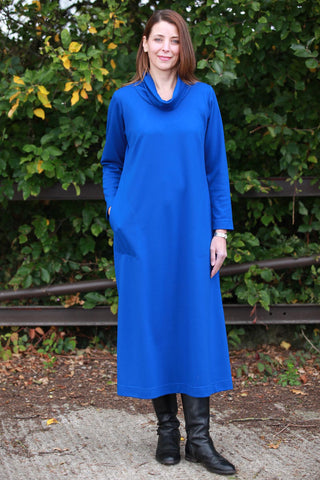 Weekender Long Jersey Dress in Royal