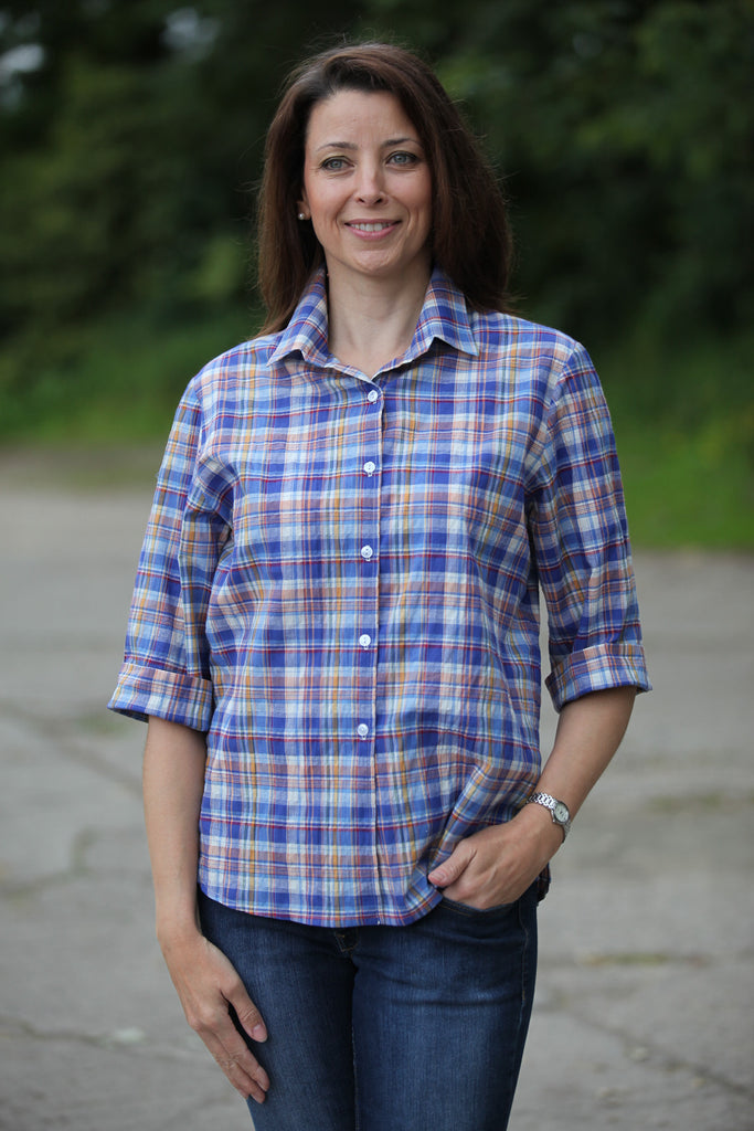 Prairie Shirt  Royal check