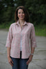 Tara shirt in Pink/cream print Sizes 12 & 14 only