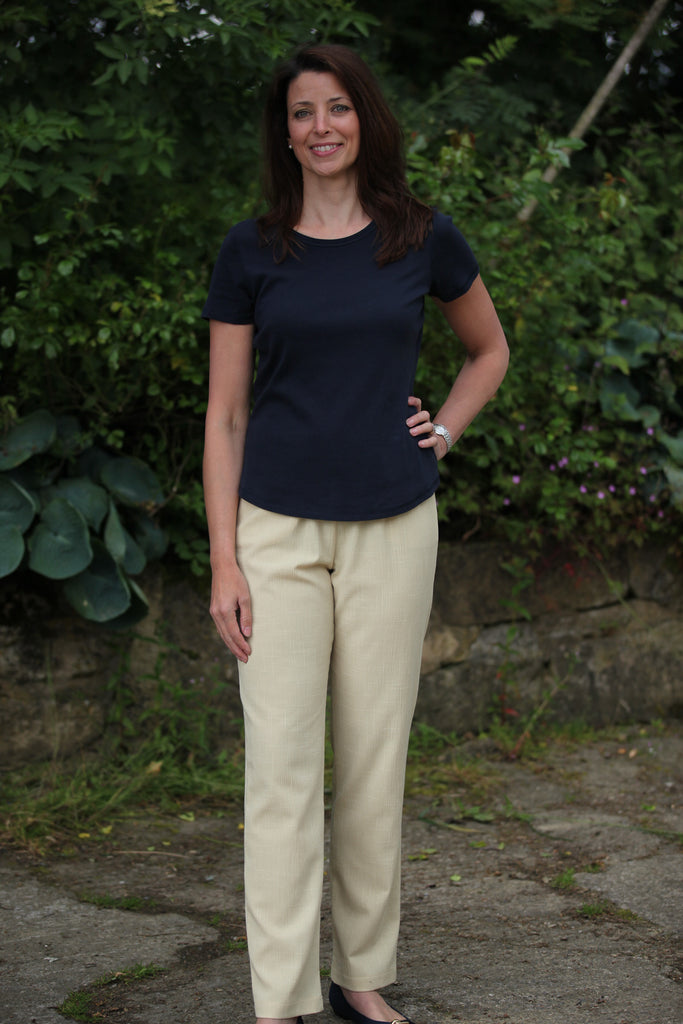 Lucy Calypso Summer trousers in Buttermilk