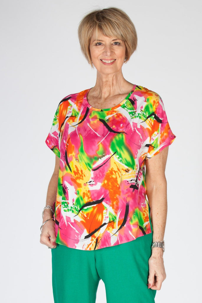 Sale Selina print top in two colours
