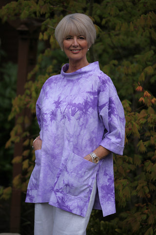 Tie-dyed India Oversized Top in three sizes