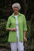 Shelley Jacket in Leaf and Deep Pink   sizes 12 - 24