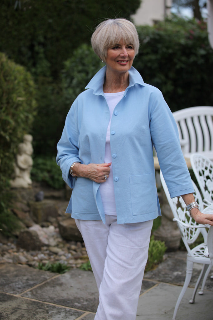 Georgia Jacket in Pale Blue