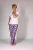 Aruba summer trousers - Royal Floral and Cream Floral