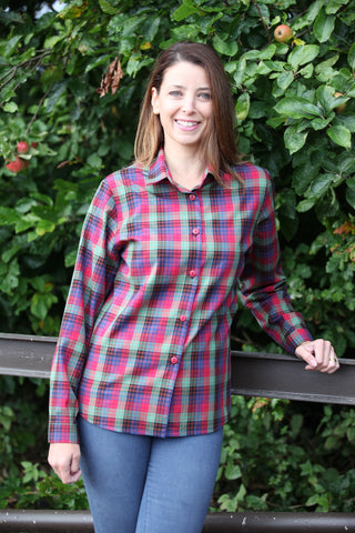 Autumn Checked Shirt in Red Montague check