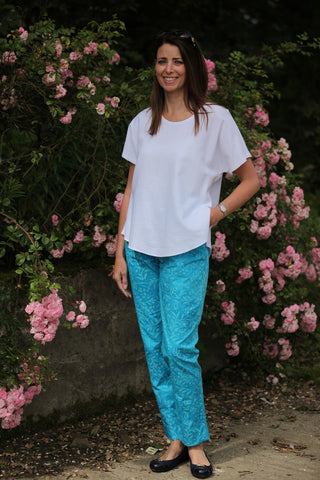 Cool Cotton Calypso - Turquoise Size 12 only