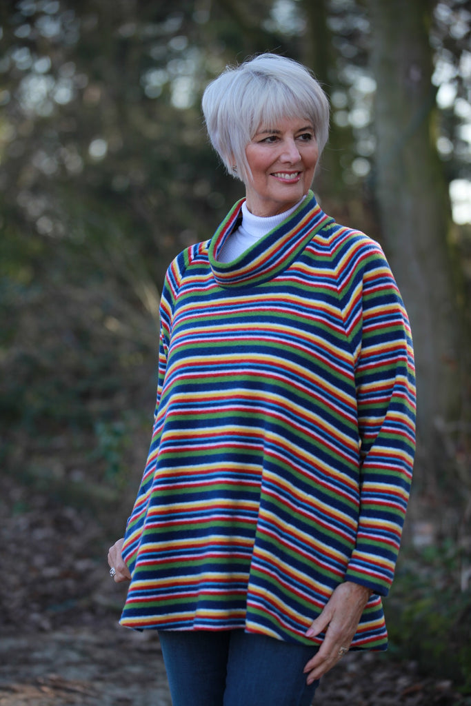 Limited edition striped Swaledale Fleece Top