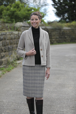 Pennine Skirt Beige/black check