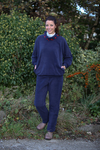 Fleece Trousers in Navy