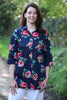 Rimini long shirt Navy floral Size 14 only