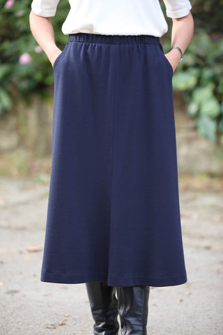 Bedale Jersey Skirt  in Navy