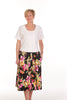 Bay Skirt in Black/Pink Floral size 18 only