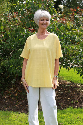 Sienna oversized top in Yellow