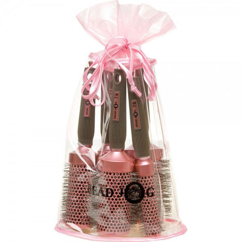 Head Jog Oval Pink Brush Set