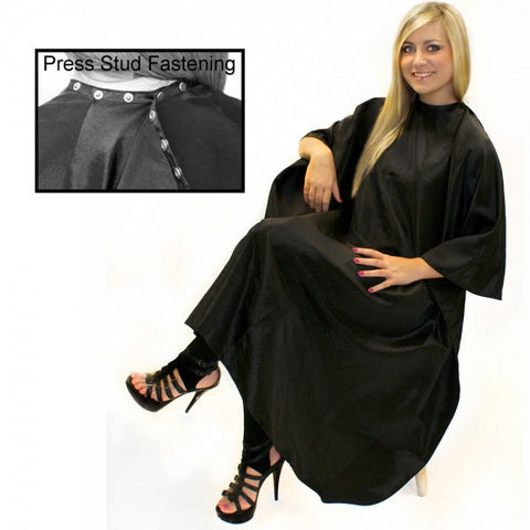 Unisex Black Gown with Poppers