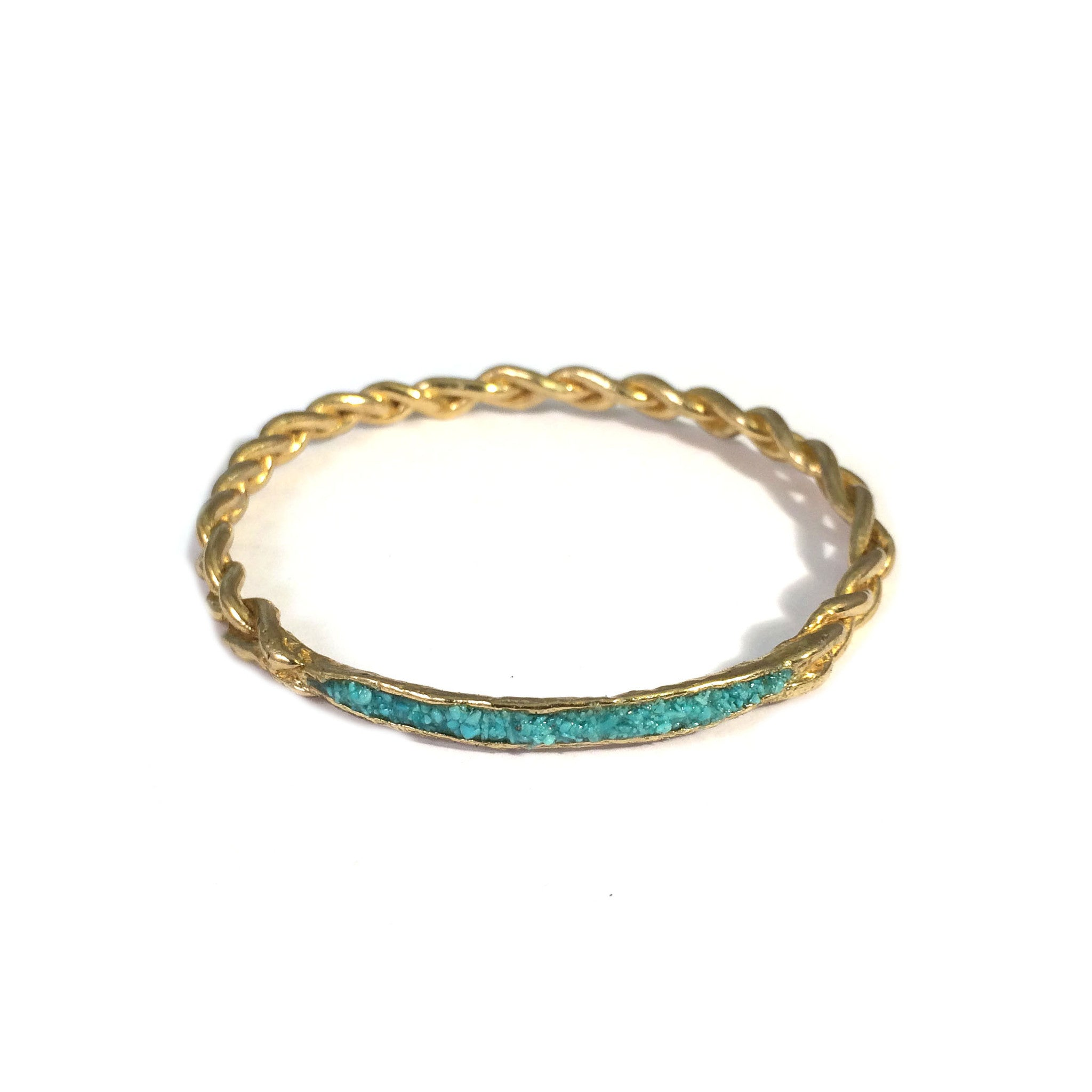 Braid Inlay Bangle