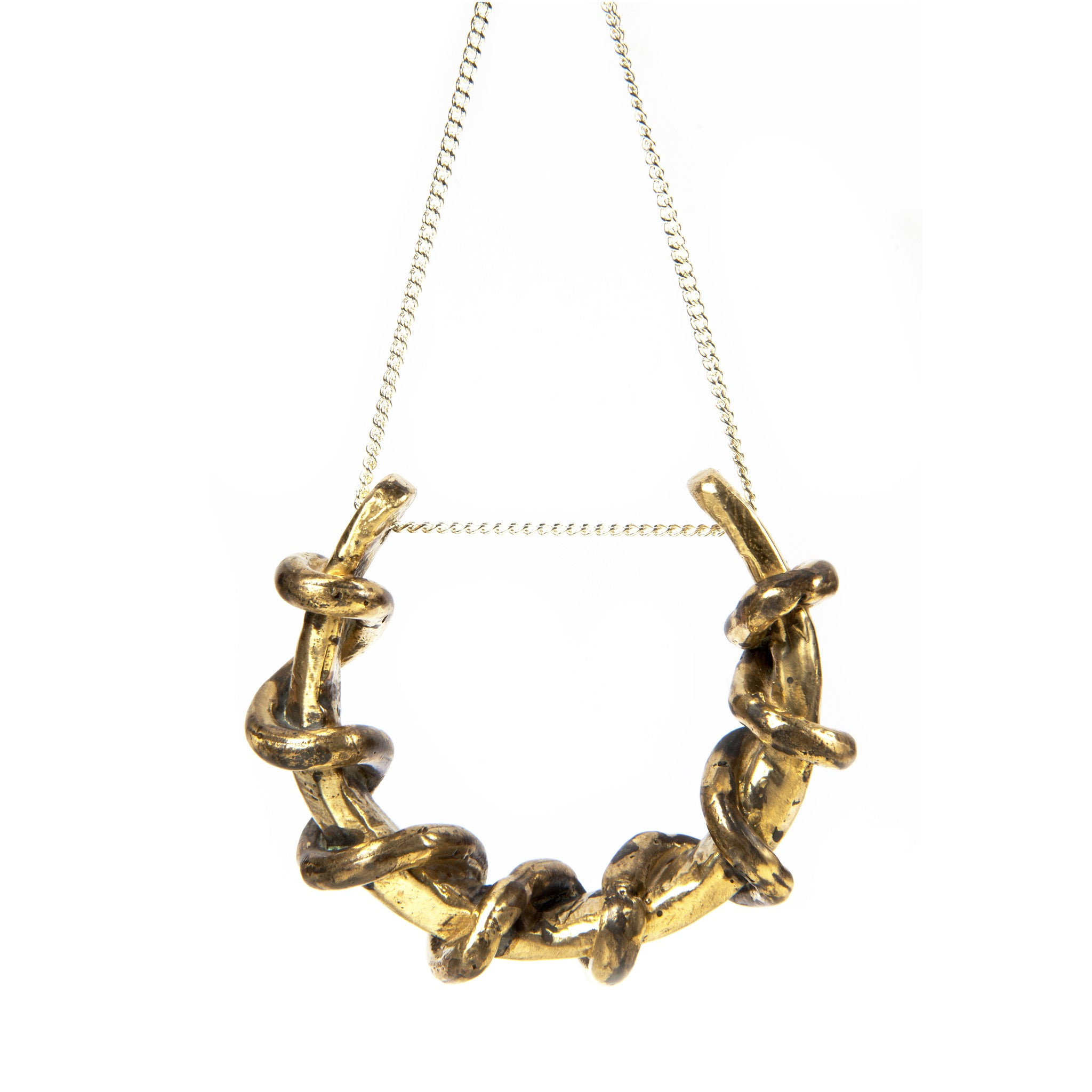 Gilded Wreath Necklace