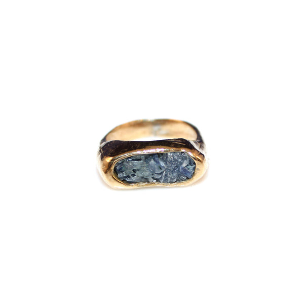Kyanite Signet Ring