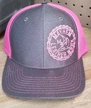 Load image into Gallery viewer, Charcoal/Pink Hat