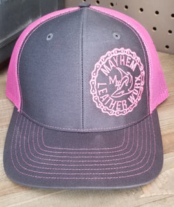 Charcoal/Pink Hat
