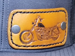 Charcoal/Black with leather motorcyle patch