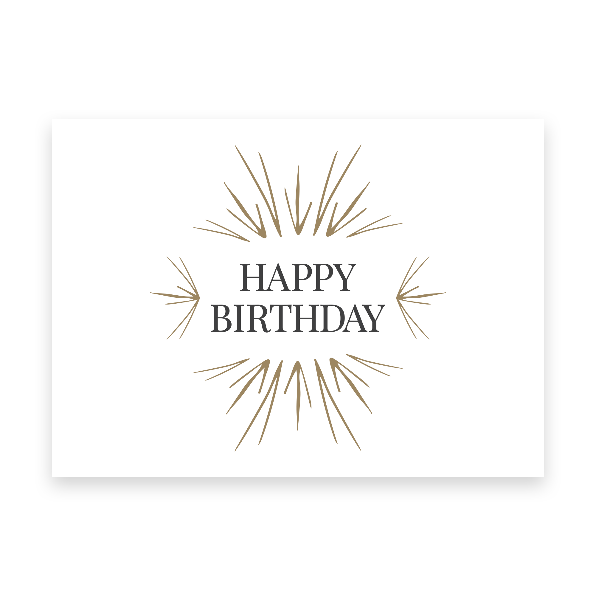 Birthday Greeting Card - Scripted Jewelry - Handwriting Jewelry