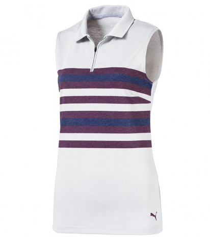 PUMA Women's Sleeveless Road Map Golf Polo