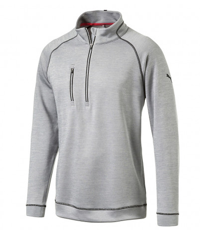 PUMA PWRWARM Heather 1/4 Zip Polo Popover