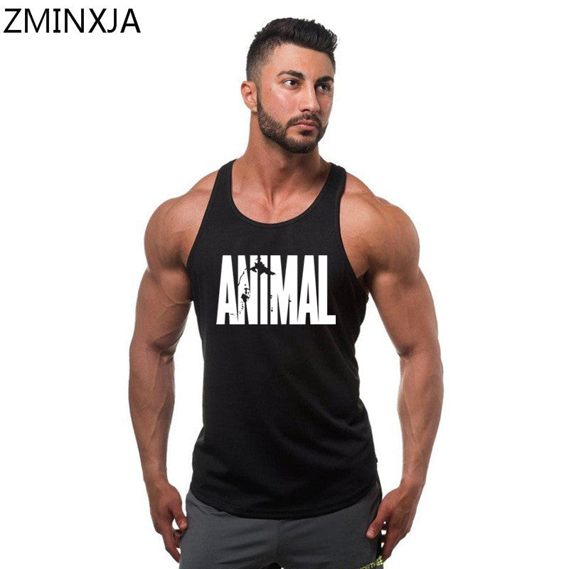 ccd758cbfba64 2018 Brand clothing Fitness Tank Top Men Stringer Golds Bodybuilding Muscle  Animal Shirt Workout Vest gyms