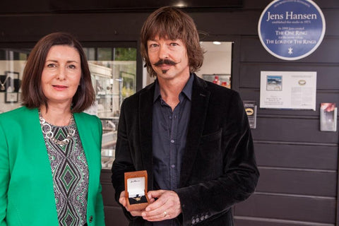 The Mayor of Nelson Rachel Reese is to gift a Jens Hansen 18ct gold pendant to Her Royal Highness The Duchess of Cornwall