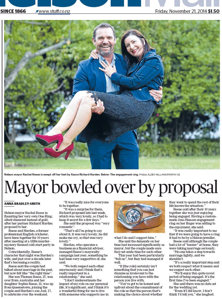 engagement rings nelson gigatown mayor Rachel Reese