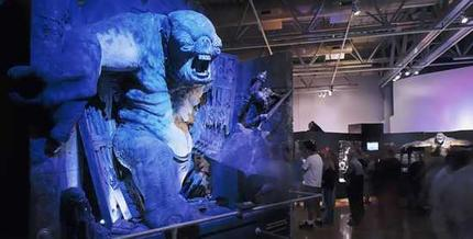 A model featuring a cave troll from the Lord of The Rings exhibition at the Powerhouse Museum in Sydney. Picture / Reuters