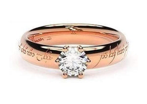Classic Elvish Engagement Ring, ~.50ct 14ct Red Gold