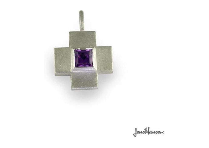 Swiss Cross set with a purple Amethyst   - Jens Hansen