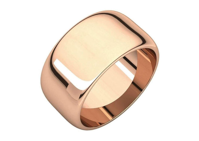 3-12mm Classic Half Round Wedding Band. Red Gold.   - Jens Hansen - 1