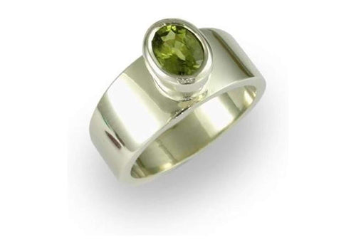 14ct White gold & Peridot Ring   - Jens Hansen