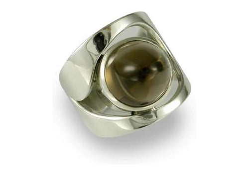 Silver Ring with Smokey Quartz   - Jens Hansen
