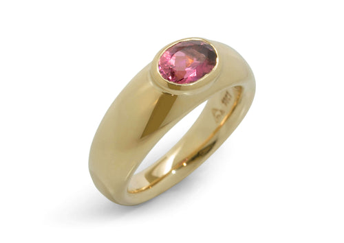 Splendid Gemstone Ring, Yellow Gold