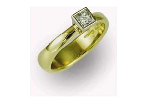 18ct Bi Tone Diamond Ring   - Jens Hansen