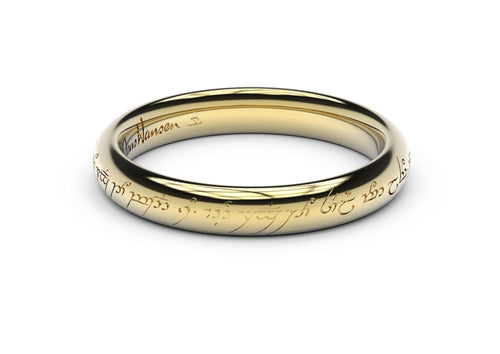 Petite Elvish Love Ring Yellow Gold